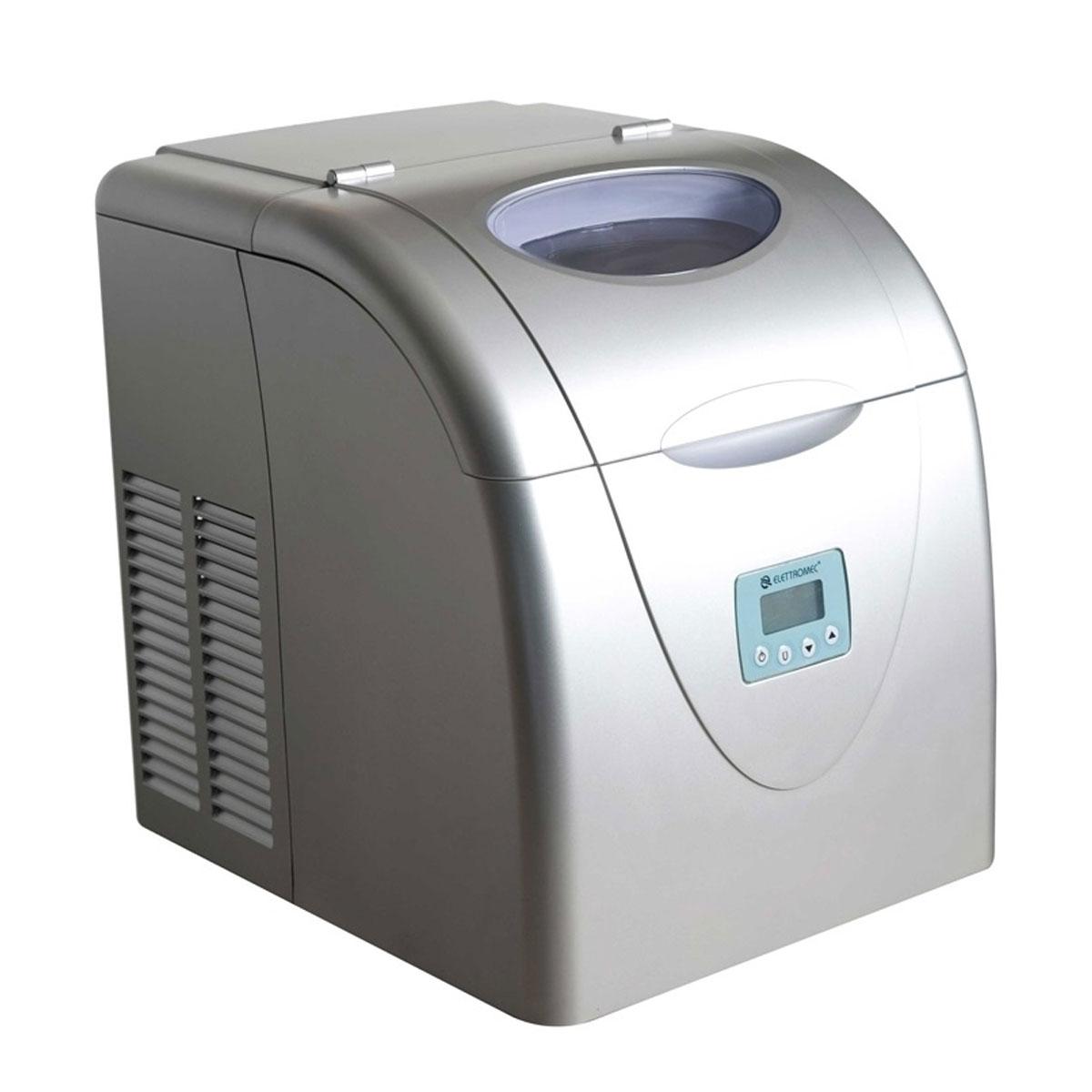 Máquina de Gelo Portátil Elettromec IM15-10P - Prata