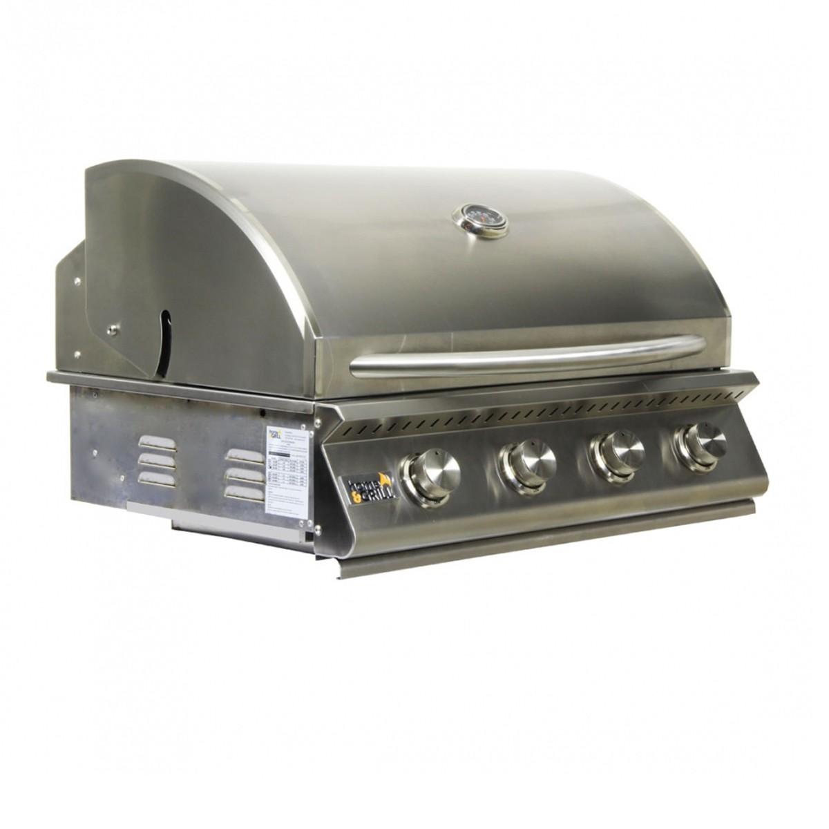 Churrasqueira a Gas Home e Grill Deluxe Premium HG-4B - 4 Queimadores - 100% Inox 304 + Brindes