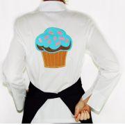 Dólmã Grace Feminina Cupcake Blue Sky BRANCA - Sarja 100% algodão Branco