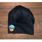 Chapéu Preto CUPCAKE BLUE SKY com velcro regulador tamanho