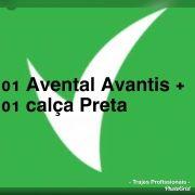 Conjunto: 01 avental bistrô Avantis + 01 calça preta