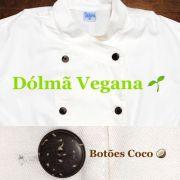 Dólmã Cecília Feminino Acinturado VEGAN RAW (SEM TINGIMENTO QUÍMICO)  e botões Marrom COCO Orgânico  Sarja Leve 100% algodão Manga 3/4