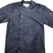 Dólmã Gourmet Botões Pressão Metal Unissex  Jeans 100% Algodão