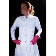 Jaleco Sissi Dress PINK HEART Feminino Acinturado  ML Microfibra