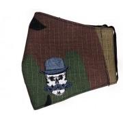 MÁSCARA CAMUFLADA SARJA LEVE 100% ALGODÃO Interior Tricoline 100 % Algodão  BORDADA Barber Skull Hat