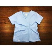 Scrub Anatomys UNISEX AZUL CONJUNTO Camisa com ajuste para acinturar atrás e calça Com Elástico e Cordão Azul 100% Algodão