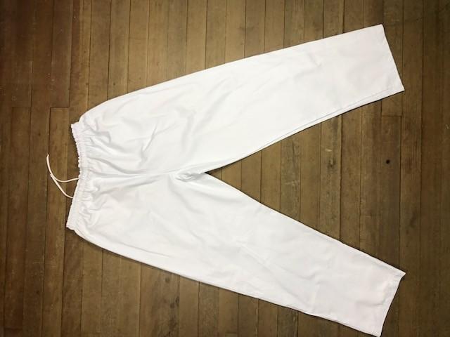 Calça Confort UNISEX  Branca dois bolsos faca na frente Tecido Sarja 100% Algodão