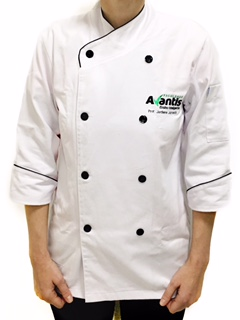 Conjunto: 01Dólmã Clássica Unisex personalizada padrão AVANTIS + 01 Chapéu gourmet com velcro Avantis
