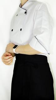 Dólmã Cecília Feminino Acinturado BRANCO Mandala Colorida Sarja Leve 100% algodão com vivo e botões PRETOS