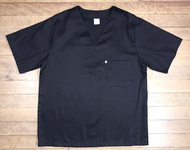 Pijama Cirurgico SCRUB PRETO UNISEX Conjunto Camisa e Calça com Cordão Azul Tecido 100% algodão