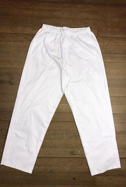 Pijama Cirurgico SCRUB BRANCO UNISEX Conjunto Camisa e Calça com Cordão Tecido 100% algodão