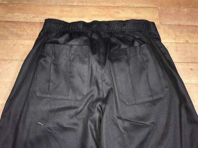 Calça Anatomys UNISEX PRETA com dois bolsos na frente e dois atrás e cordão PINK Tecido Sarja 100% Algodão