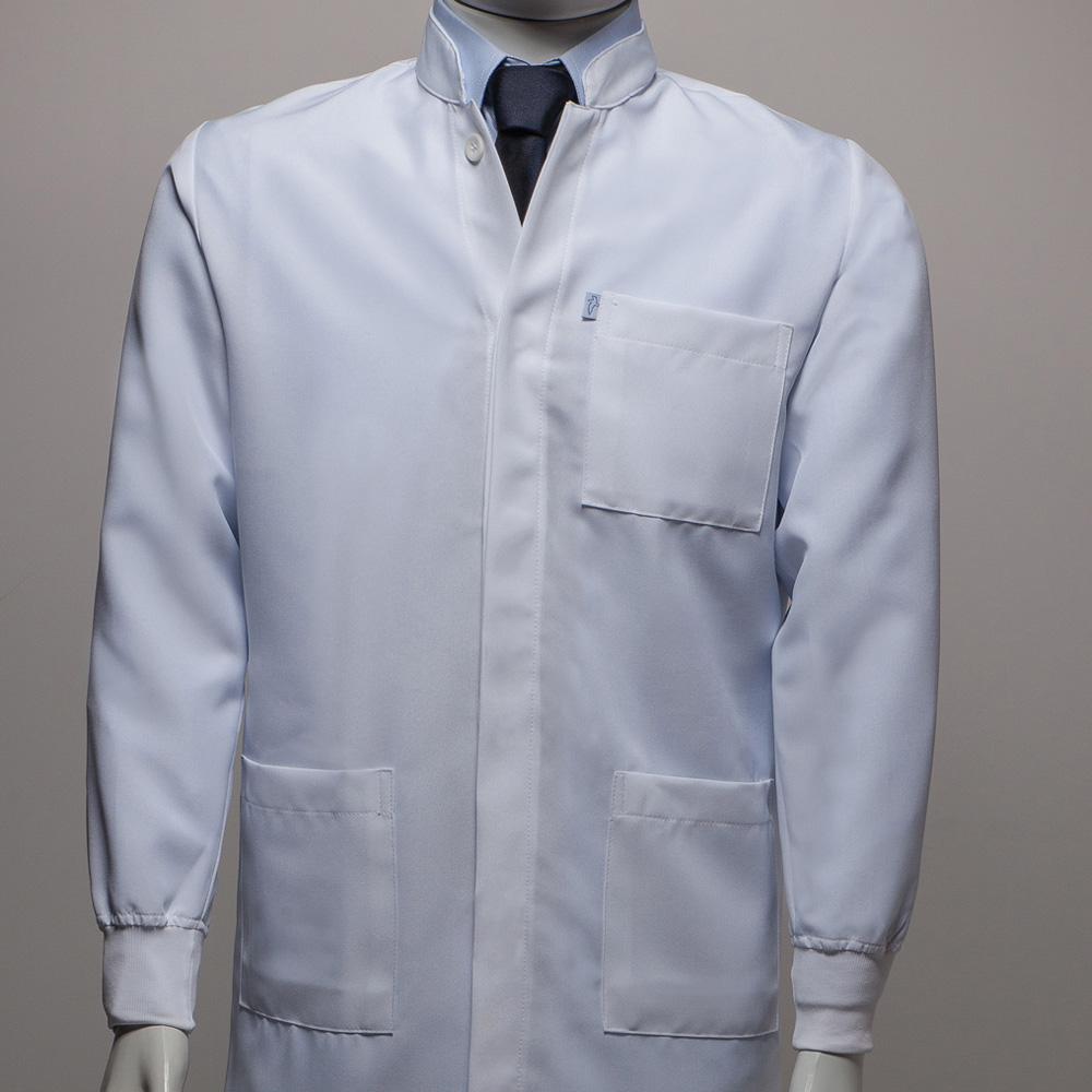 Jaleco Gola de Padre (punho de camisa) Microfibra