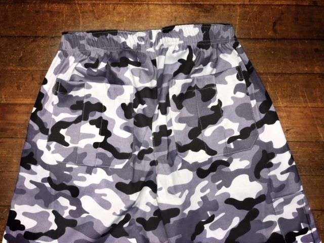 Calça Anatomys UNISEX Camuflada CINZA Militar com dois bolsos na frente e dois atrás e cordão Preto Tecido Sarja 90% Algodão 10% Elastano