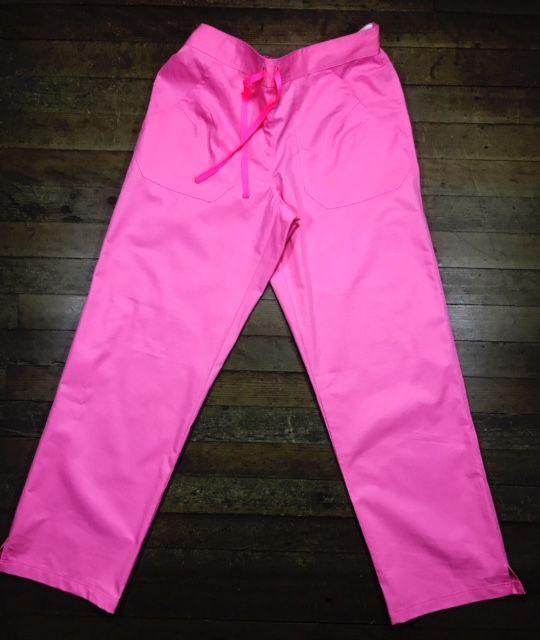 Calça Anatomys UNISEX ROSA com dois bolsos na frente e dois atrás e cordão PINK Tecido Sarja 100% Algodão