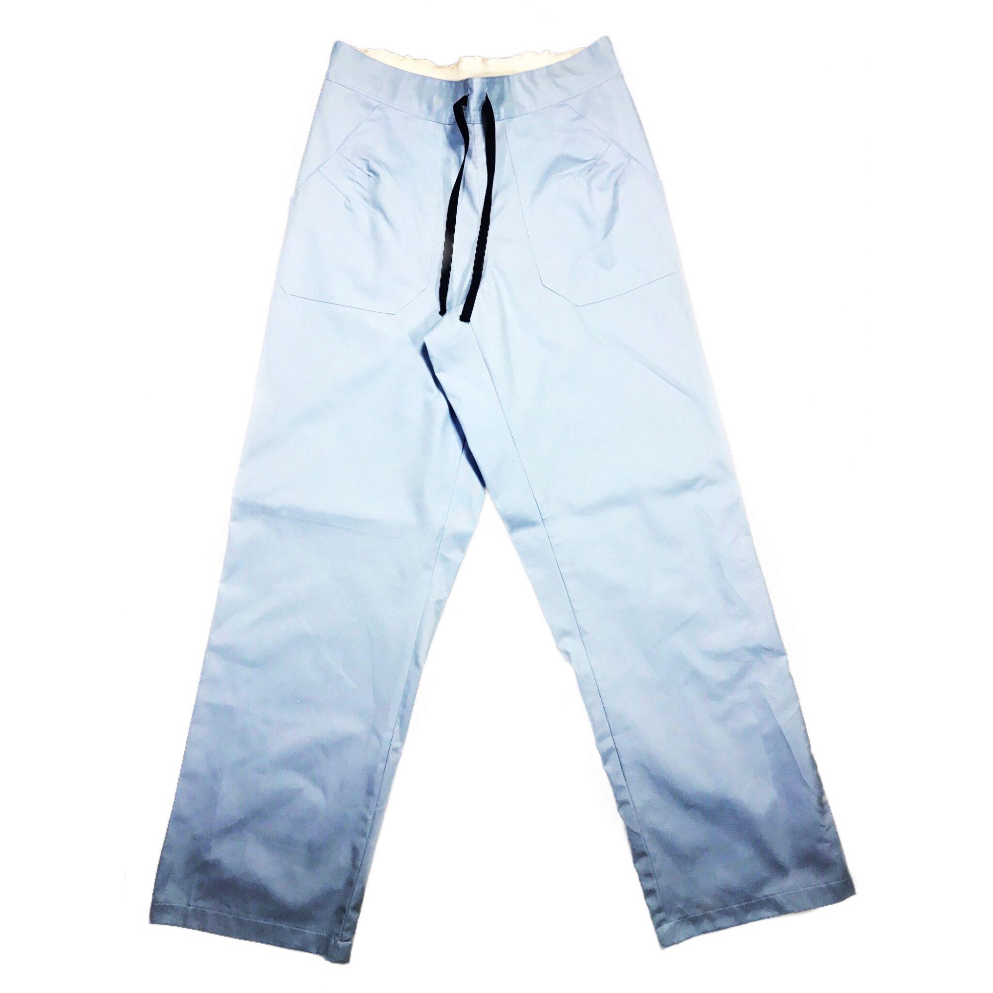 Calça Anatomys UNISEX AzuL com dois bolsos na frente e dois atrás e cordão AZUL Tecido Sarja 100% Algodão