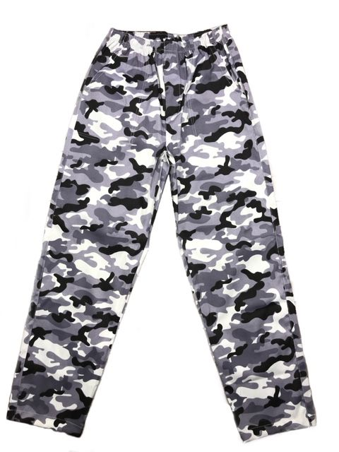 Calça Confort UNISEX Camuflada CINZA MILITAR  com dois bolsos faca na frente e cordão  Tecido Sarja 90% Algodão 10% Elastano