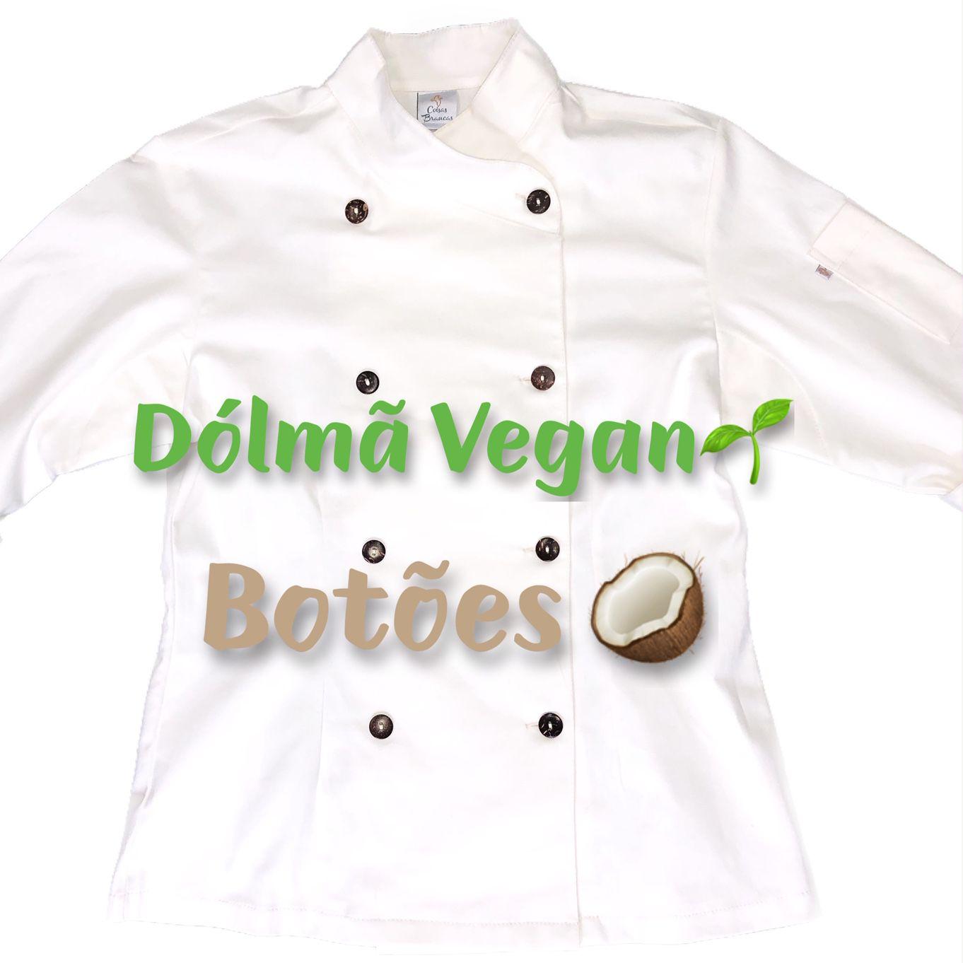 Conjunto Dólmã Cecília Feminino Acinturado VEGANA e botões COCO Sarja Leve 100% algodão + Calça CINZA ANATOMYS ALGODÃO CORDÃO BRANCO