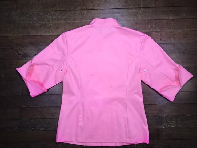 Dólmã Cecília Feminino Acinturado ROSA botões PINK Sarja Leve 100% algodão