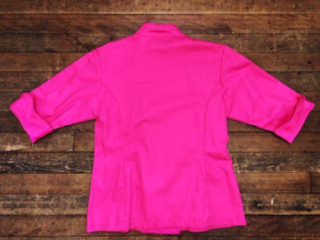 Dólmã Cecília Feminino Acinturado PINK com VIVO PINK Sarja Leve 100% algodão  com  botões PINK HEART