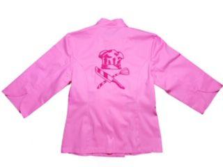 Dólmã Cecília Feminino Acinturado ROSA HAT KNIFE PINK e botões PINK Sarja Leve 100% algodão