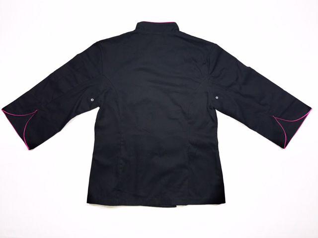 CONJUNTO Dólmã Cecilia Preta Acinturada com vivo e botões Pretos - 100% algodão manga 3/4+Avental CUPCAKE YELOW