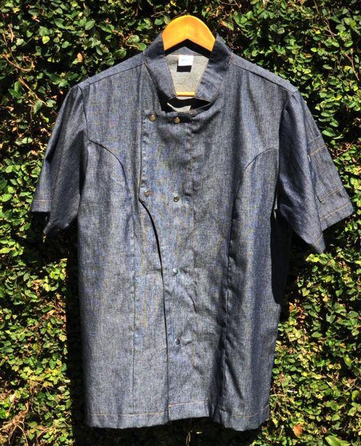 Dólmã George MC UNISEX  Jeans  (Abotoamento Pressão)- Sarja 100% algodão