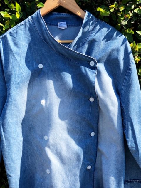 Dólmã Gourmet Unisex  Jeans Estonado Botões Camisa
