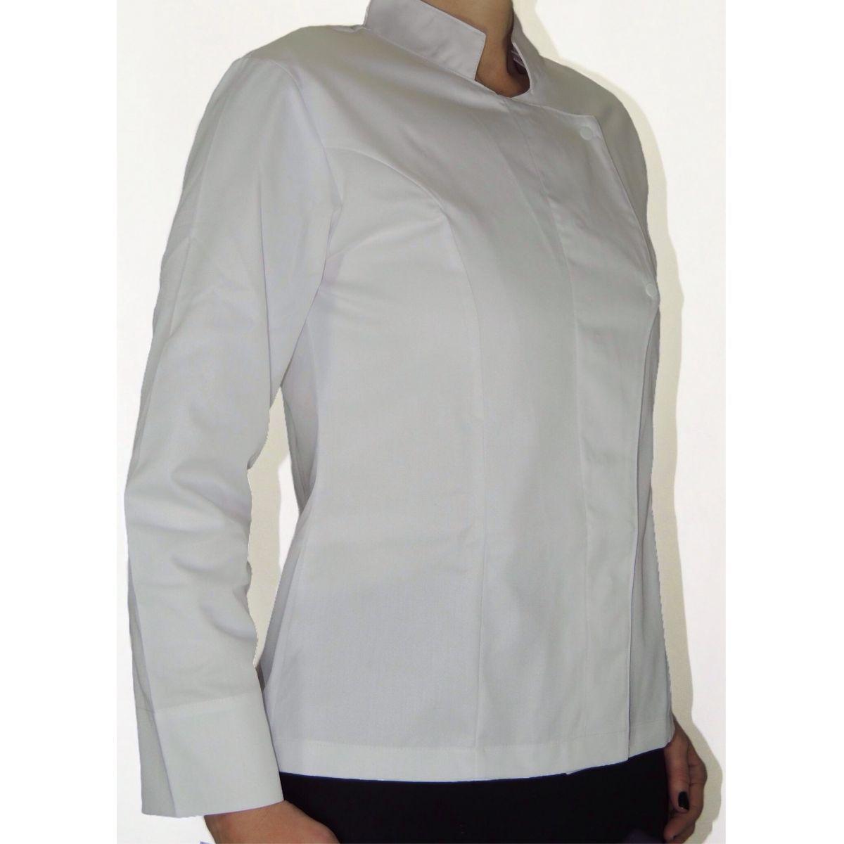 Dólmã Grace Feminina Acinturada MEXICAN SKULL BRANCA - Sarja 100% algodão Branco
