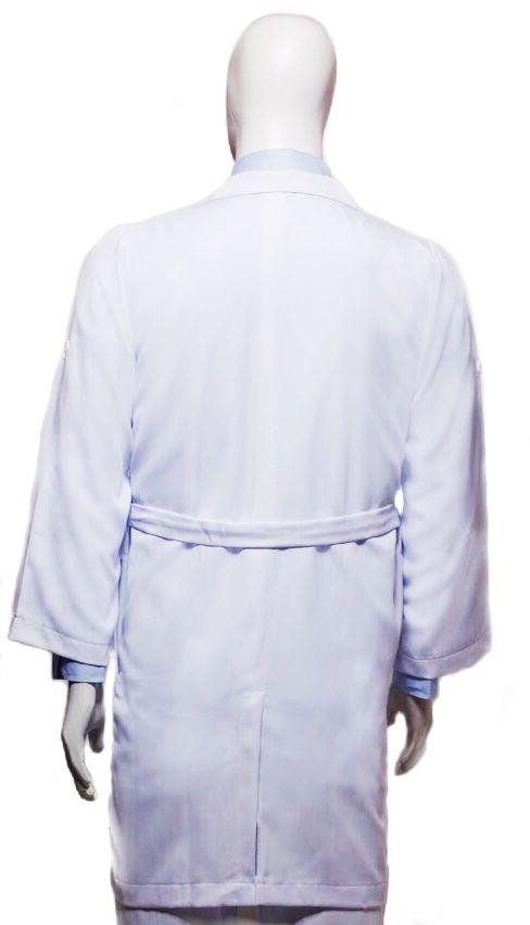 Jaleco Clássico Gola Esporte Manga Longa 100% algodão Branco