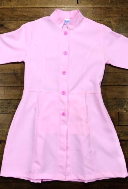 Jaleco Sissi  Dress Feminino Acinturado PINK  MICROFIBRA