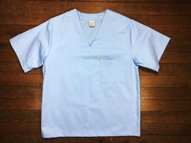 Conjunto Pijama Cirurgico SCRUB AZUL  UNISEX  Camisa e Calça com Cordão Tecido 100% algodão
