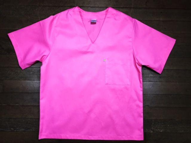 Pijama Cirurgico  SCRUB ROSA UNISEX Conjunto Camisa e Calça com Cordão Tecido 100% algodão
