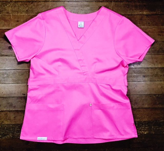 Conjunto Scrub Anatomys UNISEX ROSA Camisa com ajuste para acinturar Atrás e Cordão Pink para Calça Tecido 100% Algodão