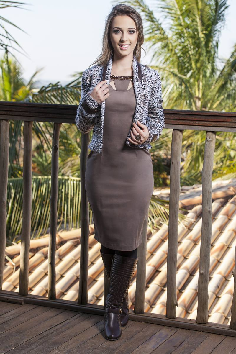 Vestido Bella Heran�a Brown 6604