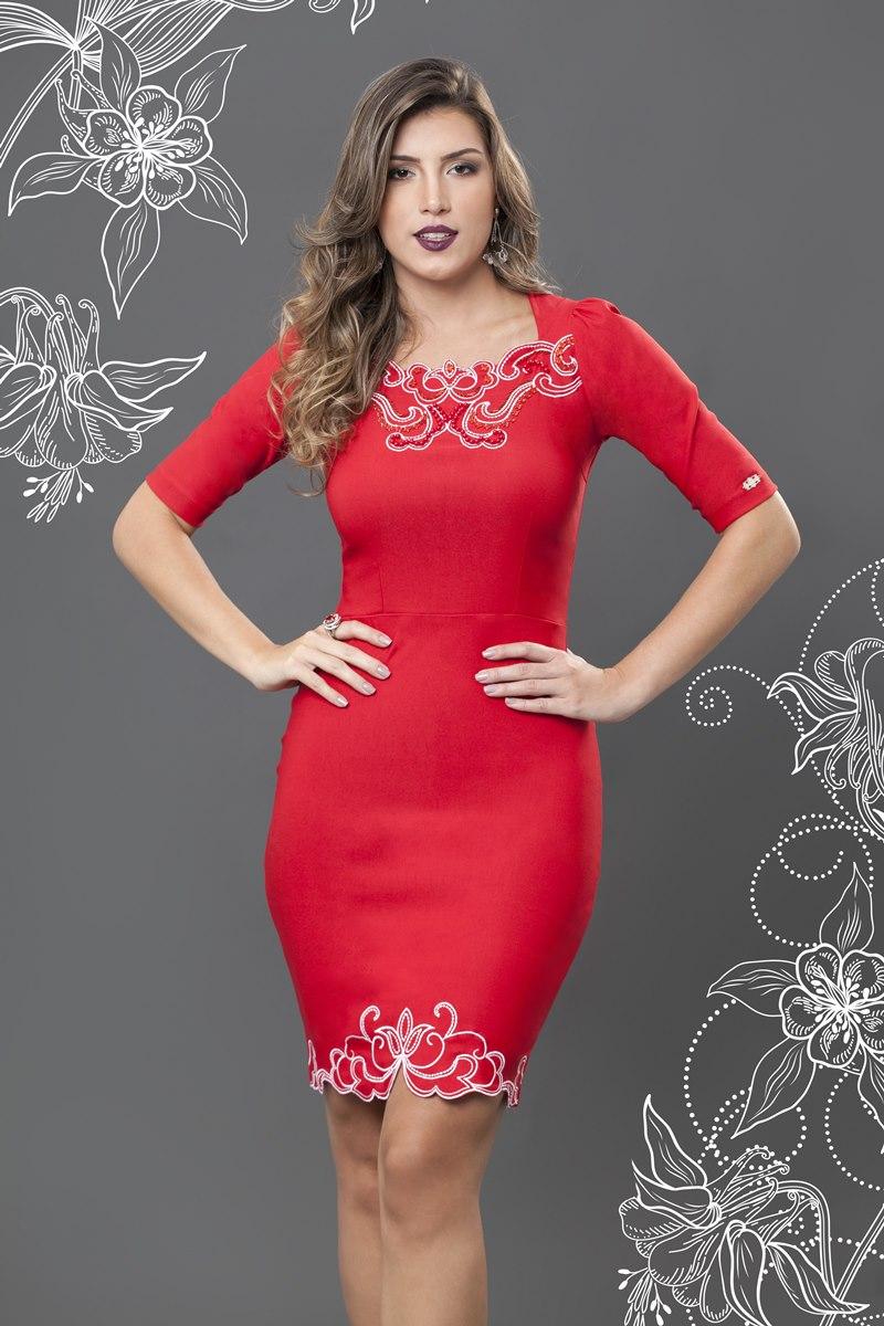 Vestido Bella Herança Red 6512