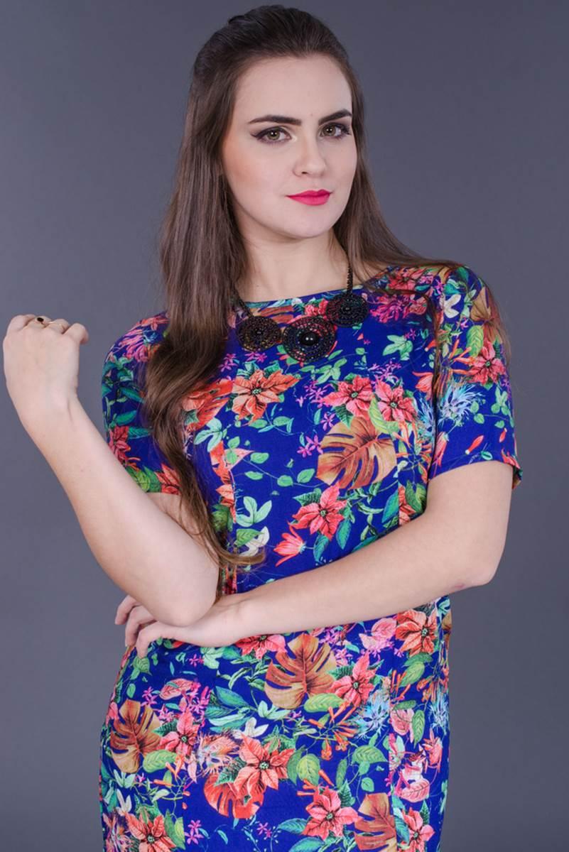 Vestido Modaris Floral Marinho 34071