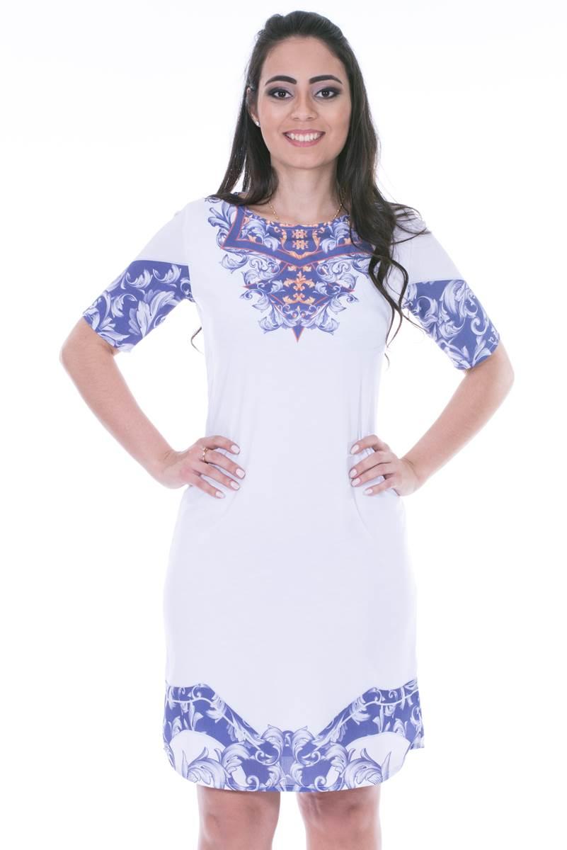 Vestido Modaris Branco 34072