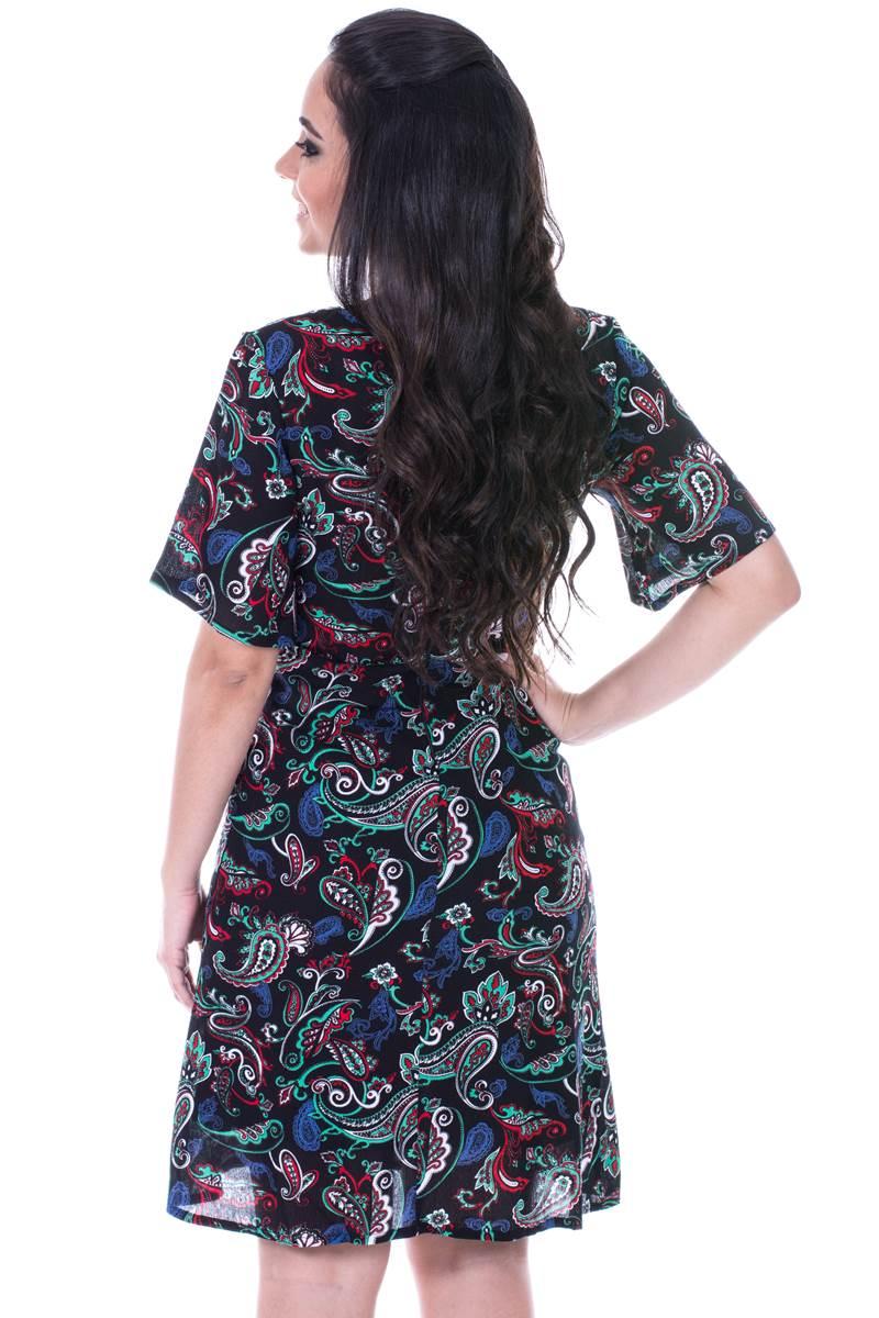 Vestido Modaris Preto Mosa�co  34073