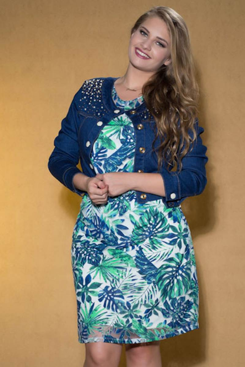 Vestido Marian Azul 59007