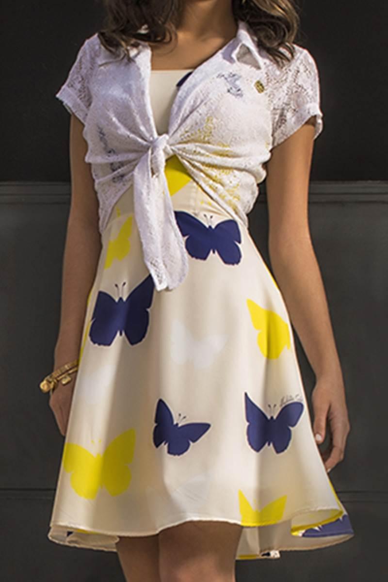 Vestido Mulata Café Borboleta 4049