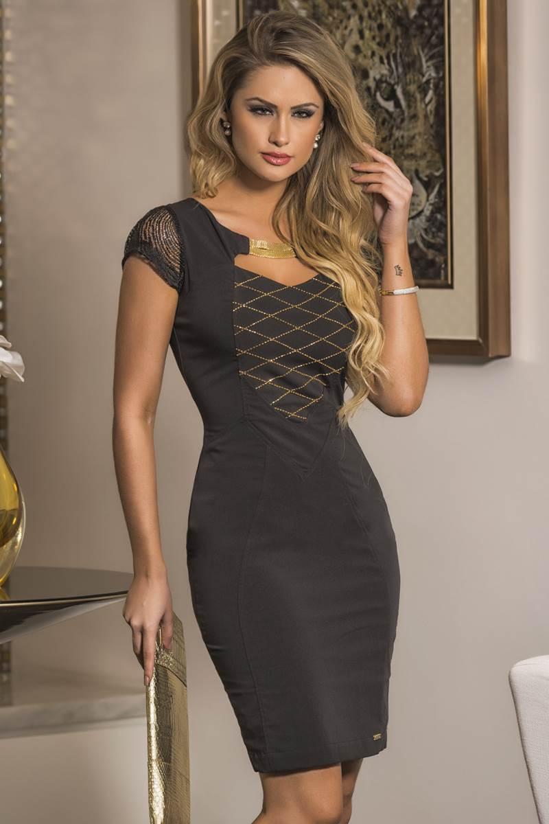 Vestido Mulata Café Ouro 4056