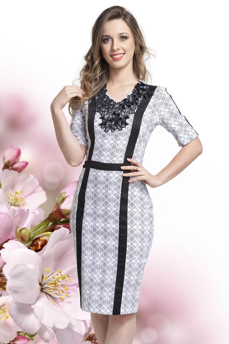 Vestido Bella Herança Preto & Branco 6713