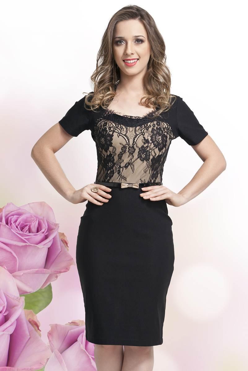 Vestido Bella Herança Renda 6718