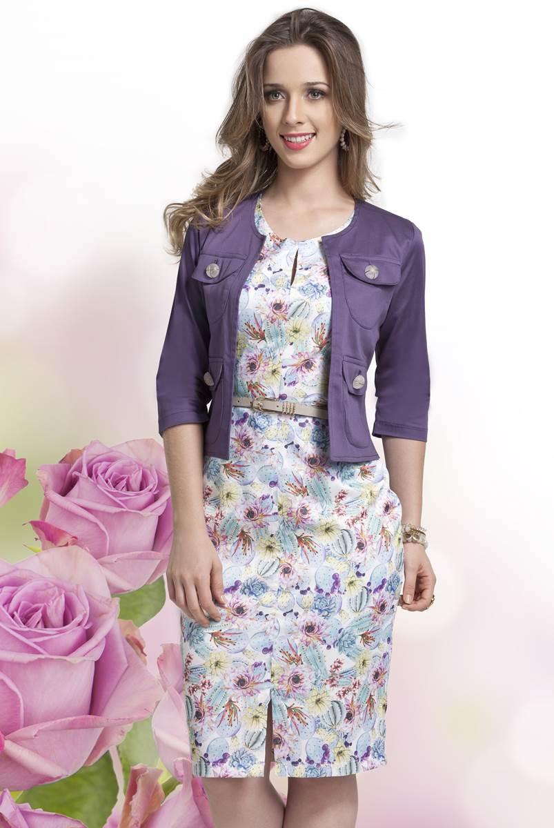 Vestido Bella Herança Floral Roxo 6720