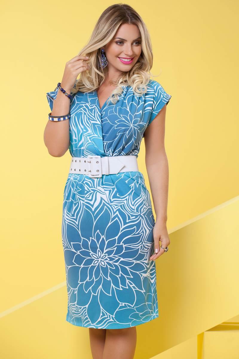 Vestido Bella Herança Fluity Amazonas 6838