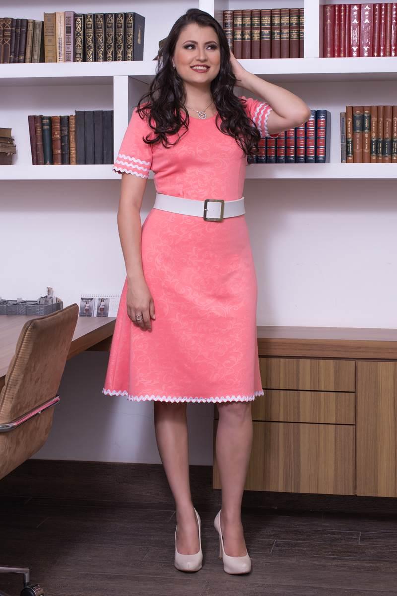 SC101 Vestido Coral Simmone Carvalho