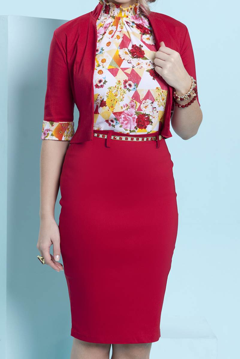 Vestido Bella Herança Bengaline 6943