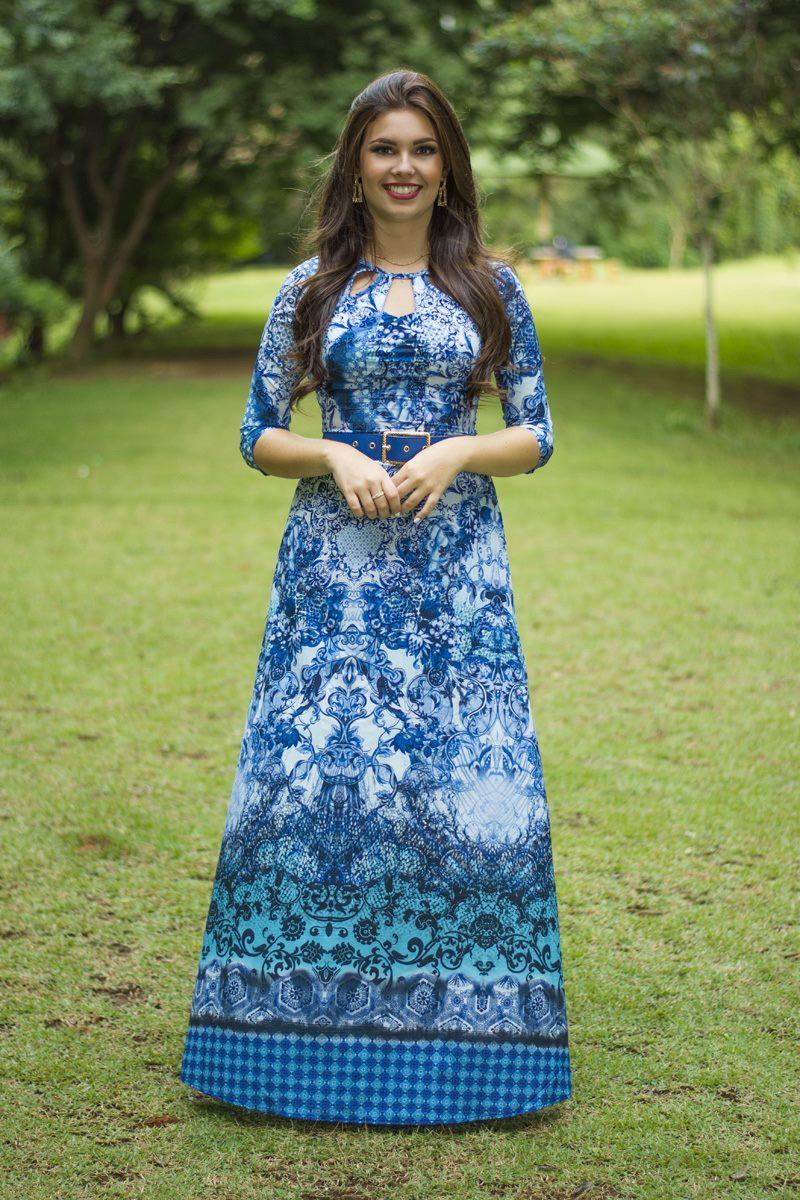 Vestido azul Simone Simmone Carvalho - SC12