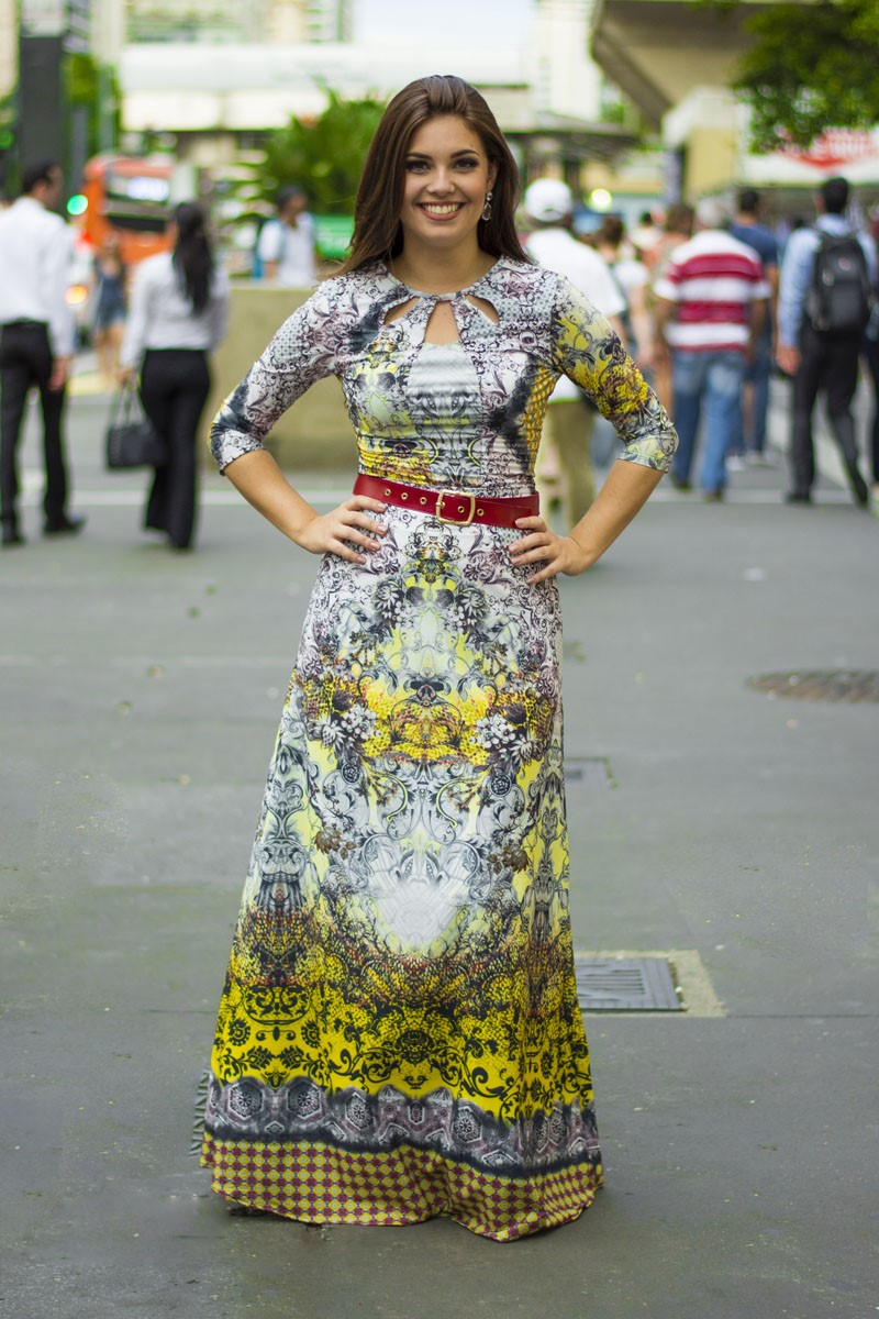 Vestido amarelo Simone Simmone Carvalho SC12
